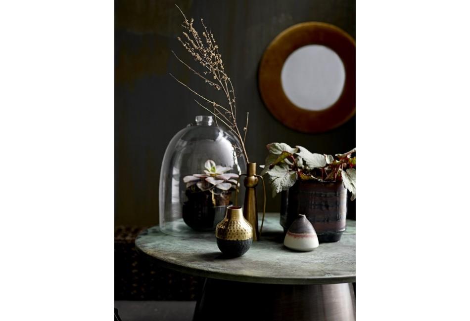 Vase en laiton et métal noir